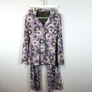 Munki Munki Purple High Heels Pajamas S